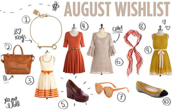 Elsie's August wishlist (Love the colors on this)