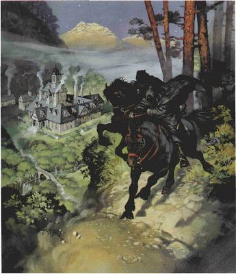 Nazgul riding as close as they can to Rivendell : Angus McBride