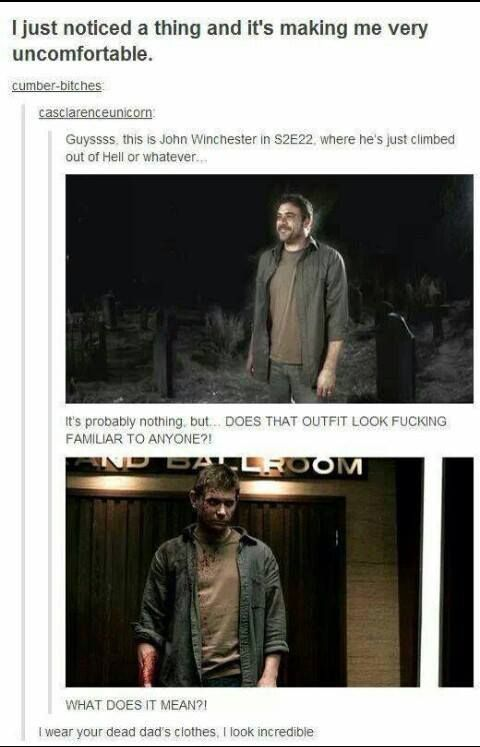 John Winchester and Satan share a closet in hell | Supernatural the last comment though.