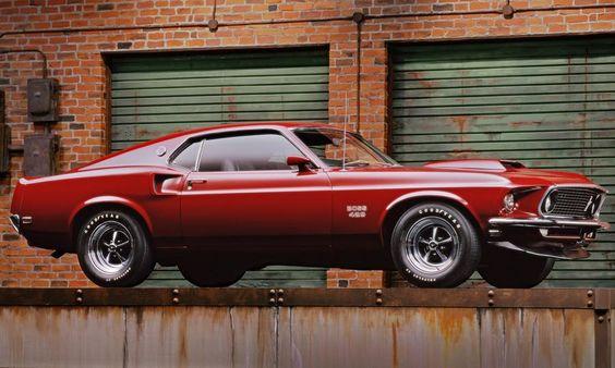 '69 Ford Mustang Boss 429. Drop dead gorgeous shot.