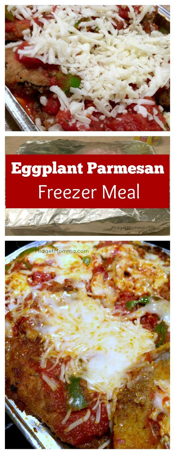 Eggplant Parmesan Freezer Meal. Full eggplant parmesan recipe with step by step instructions for freezing along with cooking from the freezer. Prep multiple meals at once in about the same time as making one meal so you have meals in the freezer.
