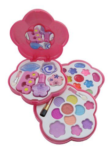 Petite Girls Play Cosmetics Set - Fashion Makeup Kit for Kids