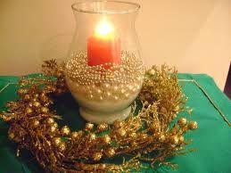 Resultado de imagem para mesa natalina decorada com taças verde
