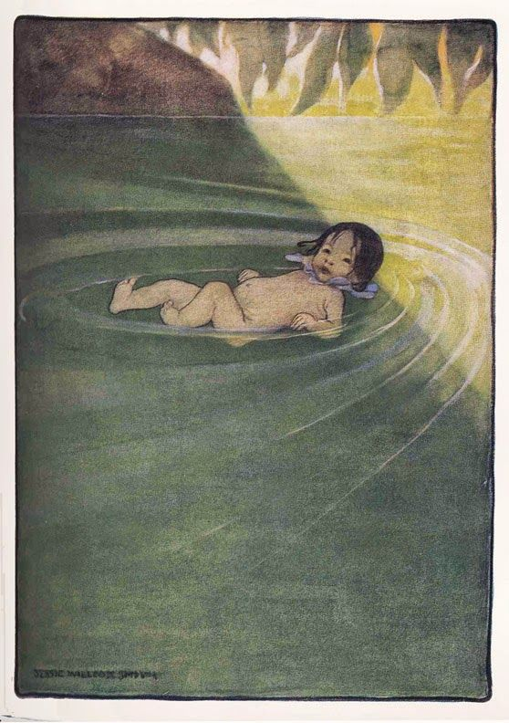 The Water Babies- The adventures of Tom, a sooty little chimney sweep with a longing to be clean, who is stolen by the fairies and turned into a water baby. Illustrated by Jessie Wilcox Smith