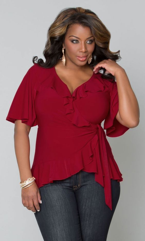 Whimsical Wrap Top at Curvalicious Clothes www.curvaliciousclothes.com TAKE 15% OFF Use code:TAKE15 at checkout