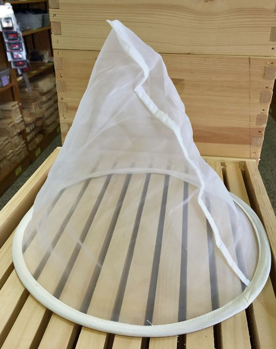 Our reliable Hoop Bag #Strainer is perfect for use with a 5-gallon bucket. #beekeeping http://beewellhoneyfarm.com/product/hoop-bag-strainer/