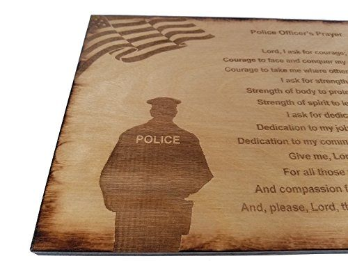 Police Officer Prayer Wall Decor With American Flag And Police Silhouette 8 5 X 11 5 Sign Wall Decor Prayer Poli Prayer Wall Police Gifts Prayer Signs