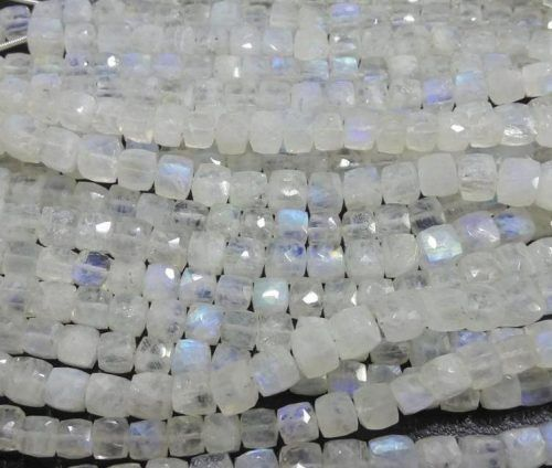 Rainbow Moonstone Moonstone Beads Box Beads Faceted Moonstone 7mm Appr0x 8 Pieces