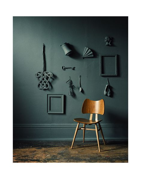 Like the colours, and also the items painted the same colour as the wall.