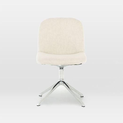 Modern Upholstered Swivel Desk Chair Saville Flax In 2019 Desk