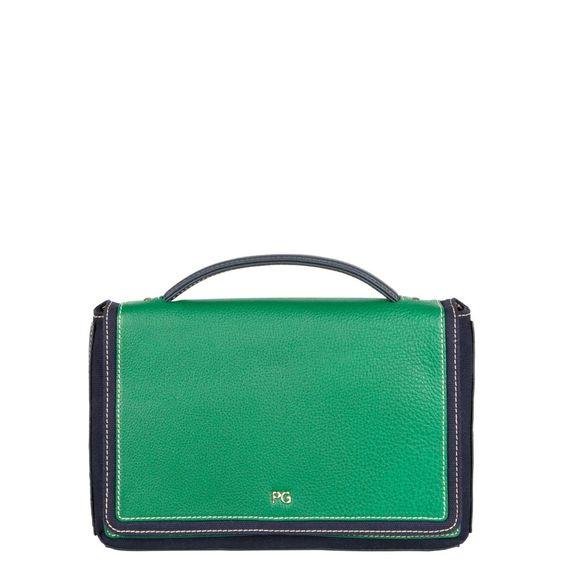 Purificación García green and black bag