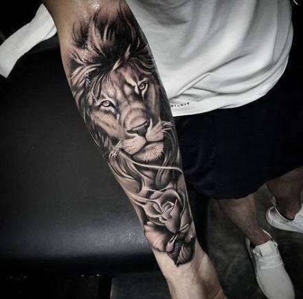 Tattoo Arm Animal Lion 44 Ideas Lion Tattoo Sleeves Tattoos For Women Half Sleeve Half Sleeve Tattoo