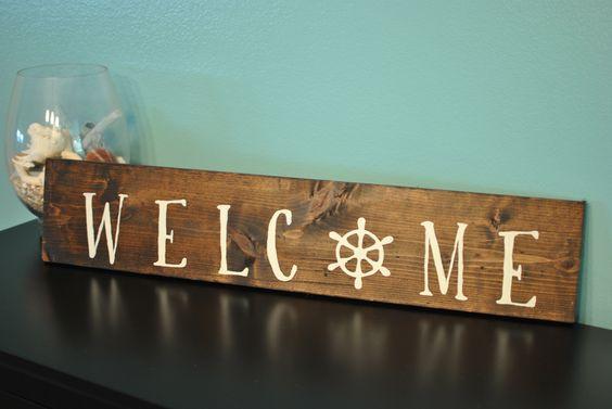 Coastal, Nautical, Rustic Wooden Sign - Home Decor
