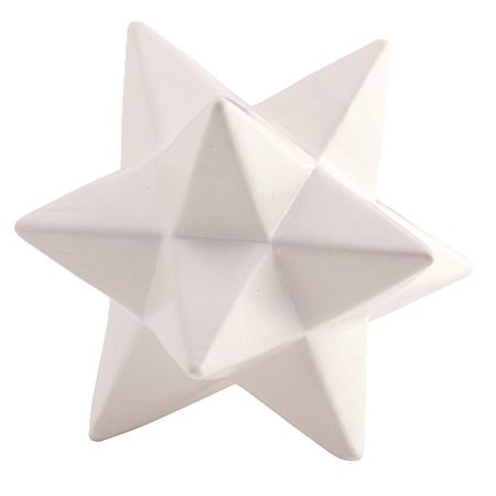 Urban Ceramic Star Decor Cream 12cm x 12cm x 10cm - Giftware - Home Decor - Homewares - The Warehouse