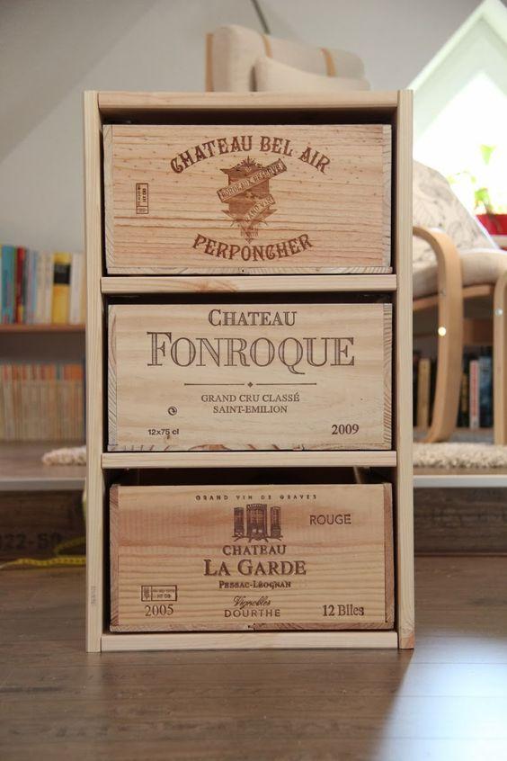 schubladenschrank aus weinkisten cupboard made from wine crates upcycling. Black Bedroom Furniture Sets. Home Design Ideas
