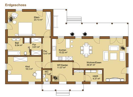 bungalow grundriss - Google-Suche  Haus Grundrisse  Pinterest  Haus ...