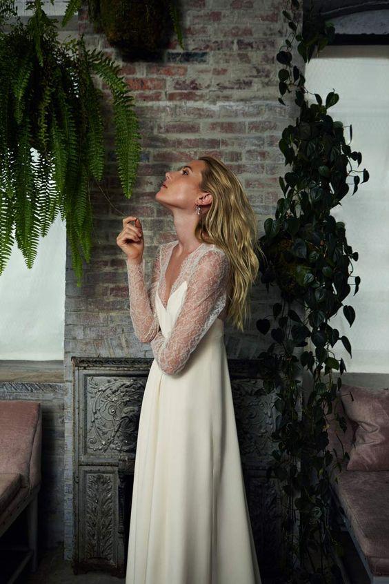 Dree Hemingway se viste de novia para Savannah Miller © Frances Tulk Hart para Stone Fox Bride