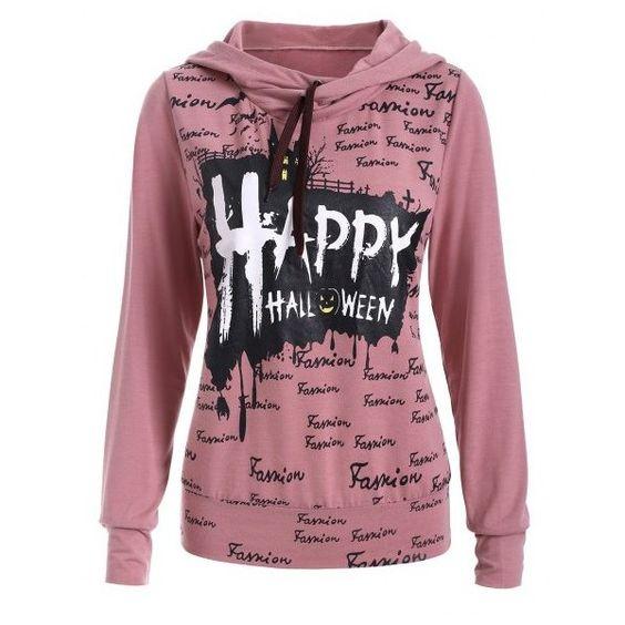 Long Sleeve Letter Print Hoodie ($14) ❤ liked on Polyvore featuring tops, hoodies, red hooded sweatshirt, long sleeve hoodie, red hoodies, hooded sweatshirt and hoodie top