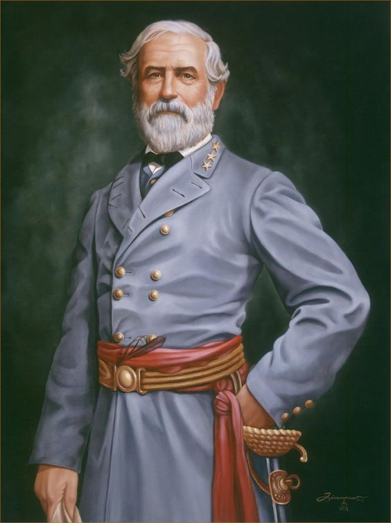 Civil War Portrait Oil Painting of Geneal Robert E. Lee - Portrait Artist Rick Timmons