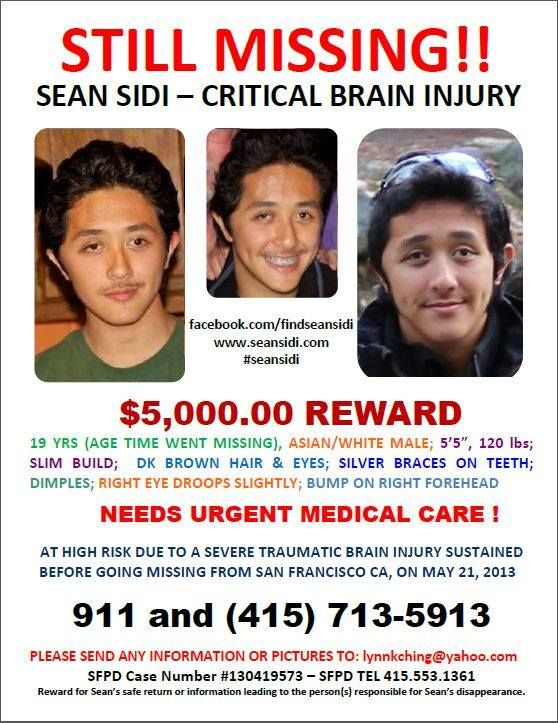 Missing Person Sean Sidi Possibly in Venice Missing People - missing person flyer template