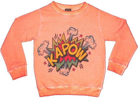 'Kapow' sweatshirt - Be Lucky - NIEUWE COLLECTIE - Collectie meisjes