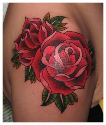 rose shoulder tattoo | flower, rose, tattoos, arm ...