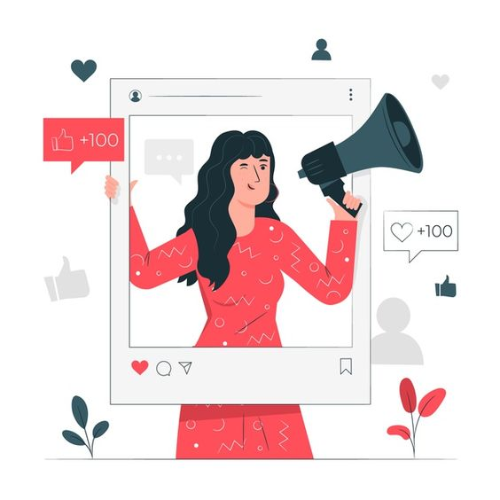 Иллюстрация концепции influencer Бесплат... | Free Vector #Freepik #freevector #business