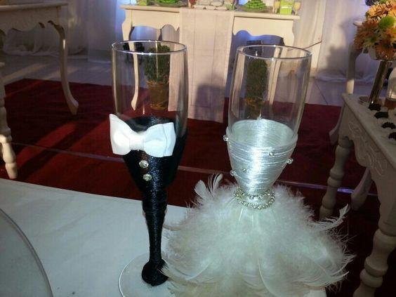 Decoración de copas para bodas - Wedding decoration