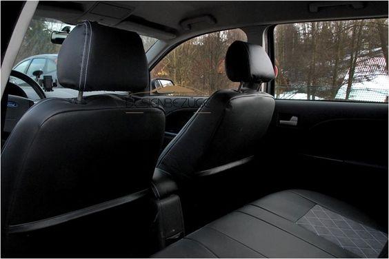 Ford Mondeo MK3 Model 2001 Vordersitze mit passenden Sitzbezügen montiert. Schönes Design und ganz neuer Look