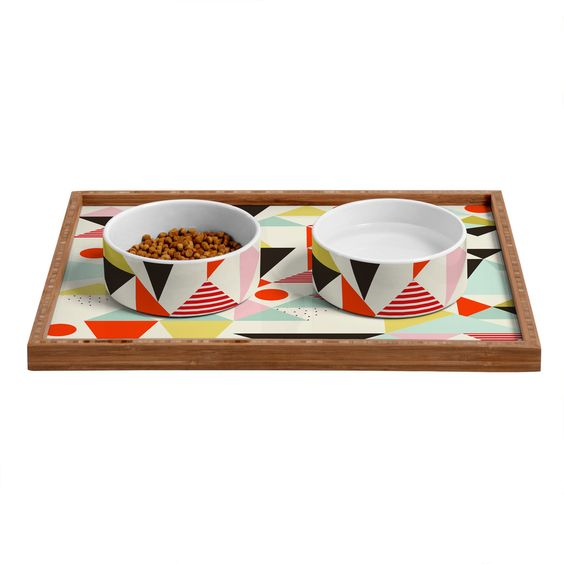 Hello Twiggs Modern Art Pet Bowl and Tray DENY Designs Home Accessories ANIMAL LOVER ...
