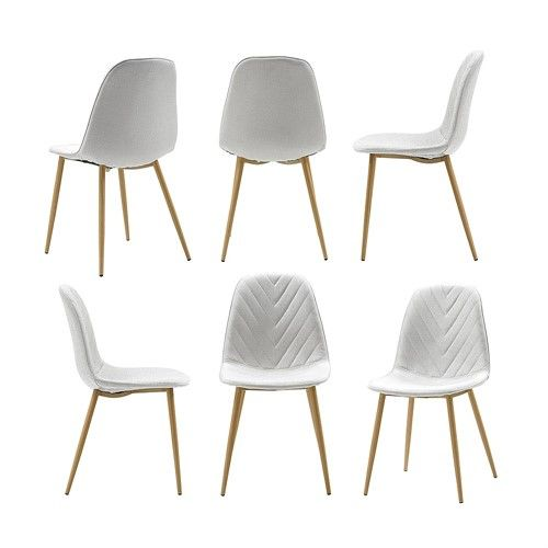 Swell Hemingway Modern Chair Cream Set Of 6 Chairs Benches Pabps2019 Chair Design Images Pabps2019Com