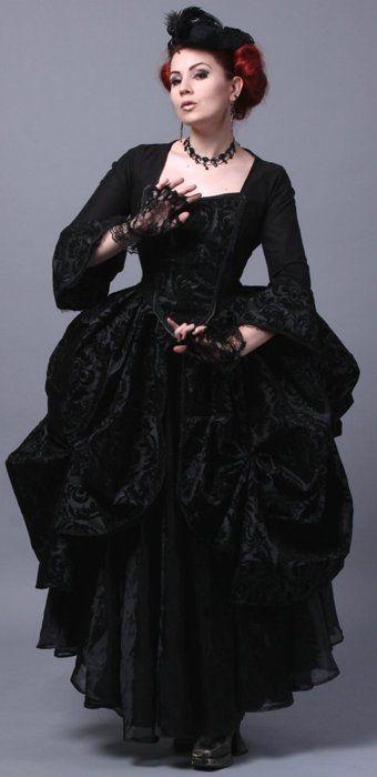 Dark Gothic Rococo Gown