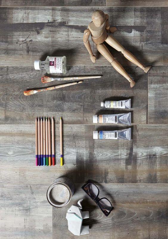 designboden catega flex dd 300 esche vintage 6950 holznachbildung collage farben kunst. Black Bedroom Furniture Sets. Home Design Ideas