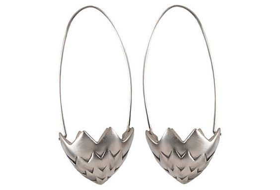 Brister Earrings, Oxidized SS on OneKingsLane.com