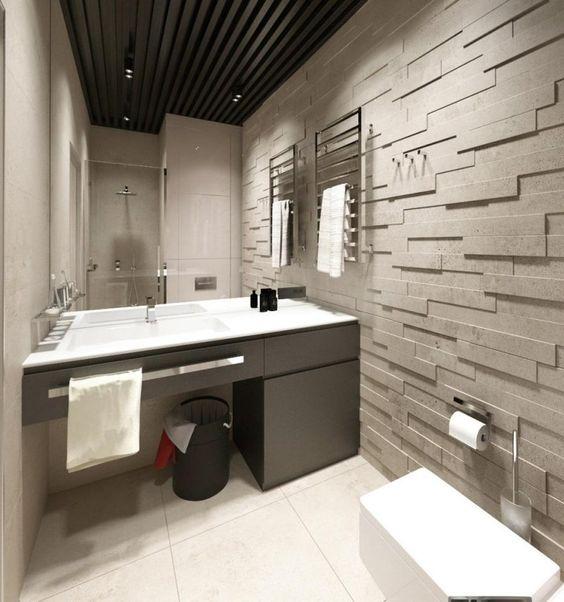 Carrelage mural salle de bain panneaux 3d et mosa ques design interieur - Revetement sur carrelage ...
