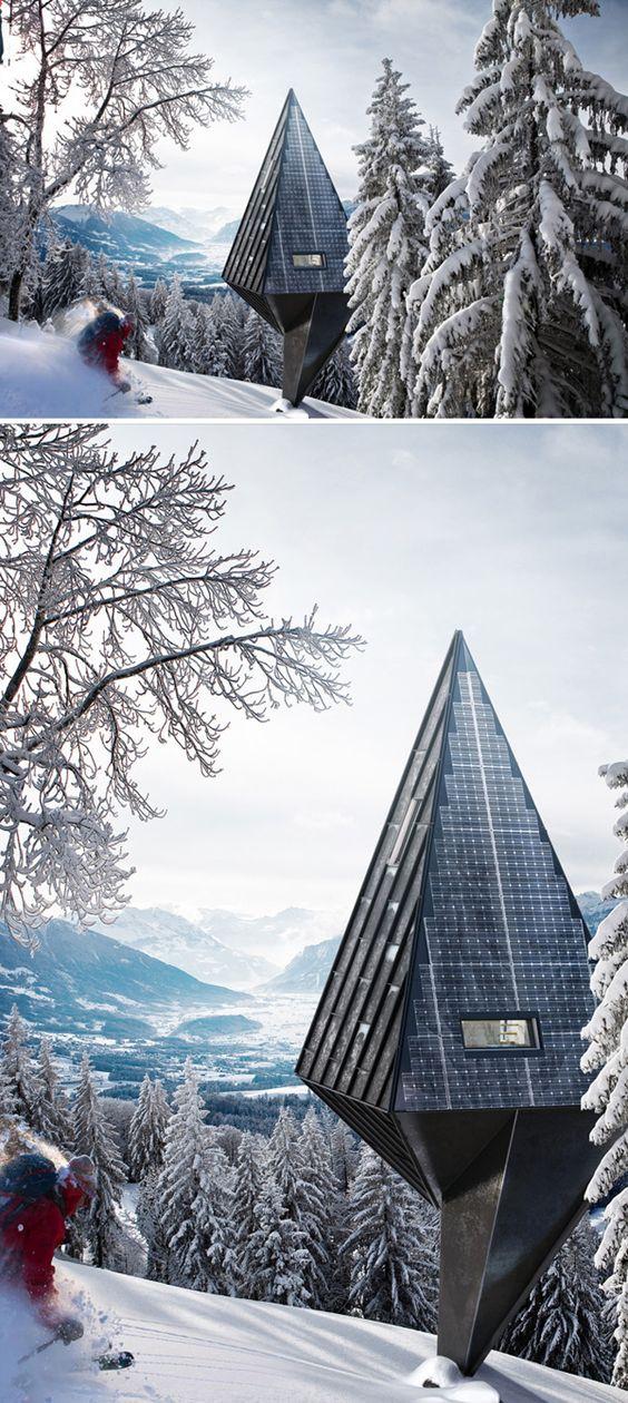 Modern Eco Friendly Homes Set Amongst the Trees   DesignRulz.com: