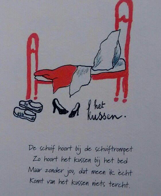 Toon Hermans - Het Kussen - Poëzie | Pinterest