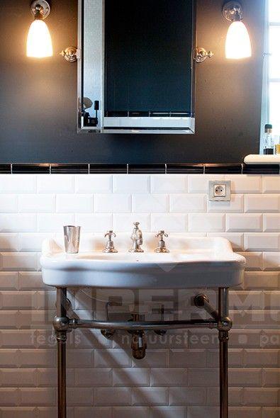 Wandtegel metrotegels metrotegel tegels wandtegels badkamer tegels badkamer wandtegels - Deco badkamer vintage ...