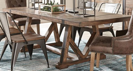 nelson trestle dining table art van