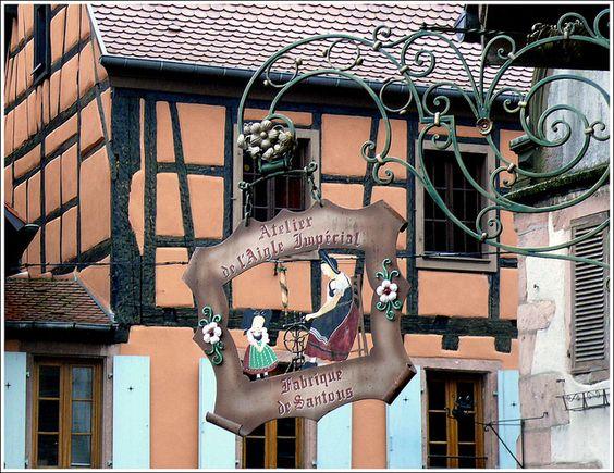 shop sign in Kaysersberg, Haut-Rhin France
