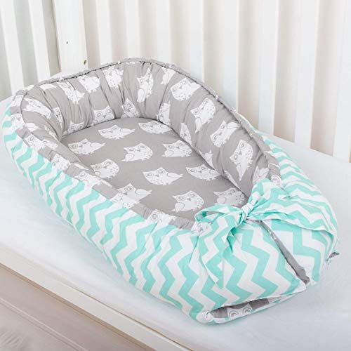 Enjoy Exclusive For Baby Nest Bed Toddler Size Nest Mint Owls