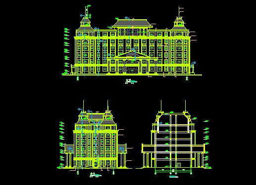 Large buildings free autocad drawing cad blocks 3d drawing website