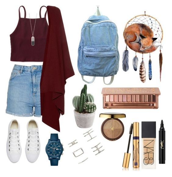 """""""IDK Anymore"""" by bellmegan on Polyvore featuring Topshop, Aéropostale, The Row, Converse, Lacoste, True Rocks, Forever 21, Yves Saint Laurent, NARS Cosmetics and Estée Lauder"""