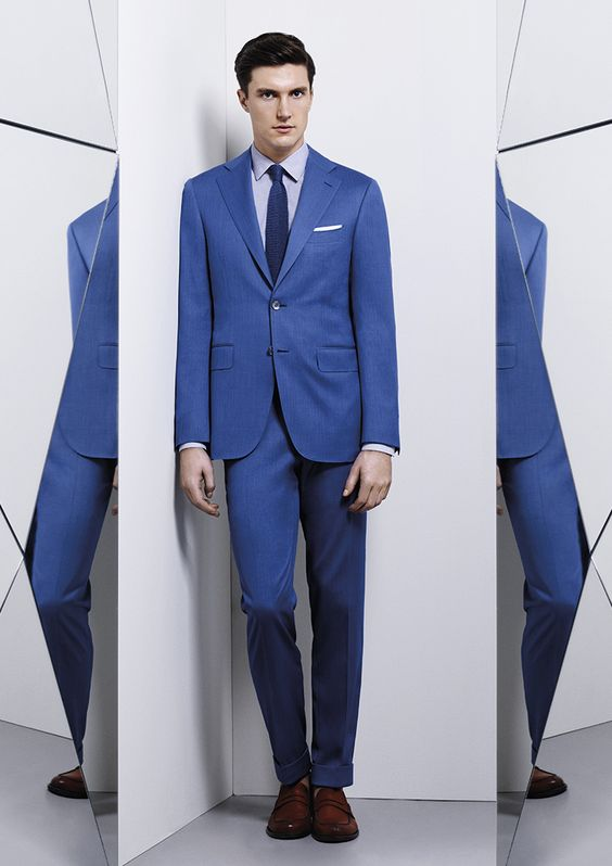 canali menswear spring summer 2016 light blue suit | T H E : M A N