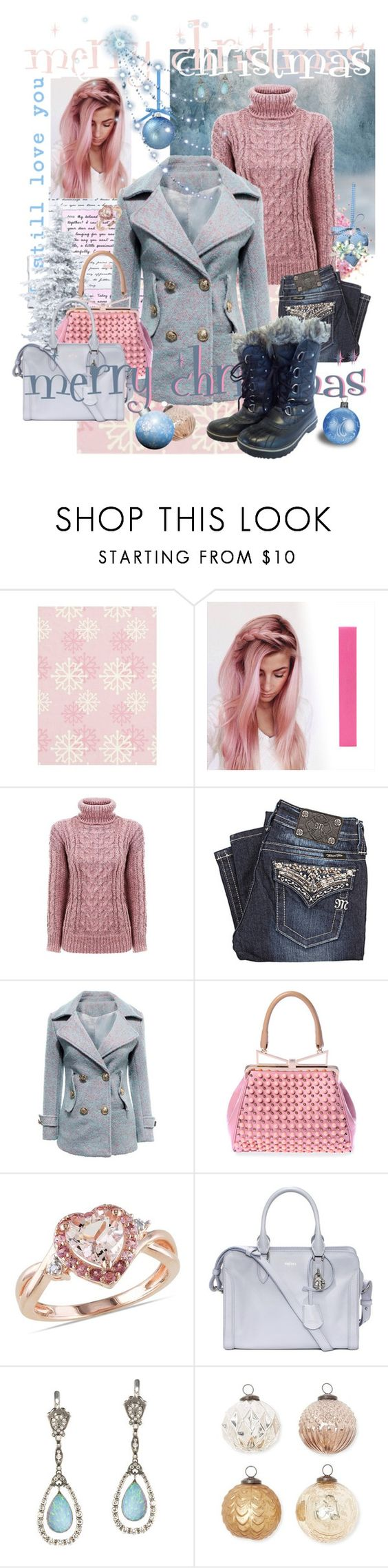 """""""the tingle of a beautiful frost"""" by nangaleema ❤ liked on Polyvore featuring Miss Me, Sara Battaglia, Alexander McQueen, Queensbee, Barreveld and SOREL"""