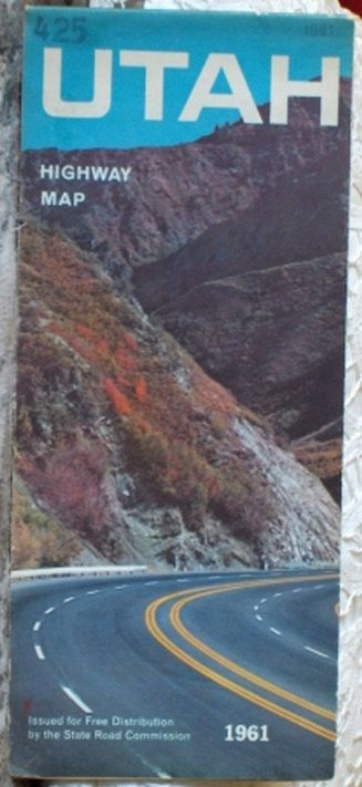 http://ajunkeeshoppe.blogspot.com/  ROAD MAP 1961 Utah State Road Commission Highway Routes