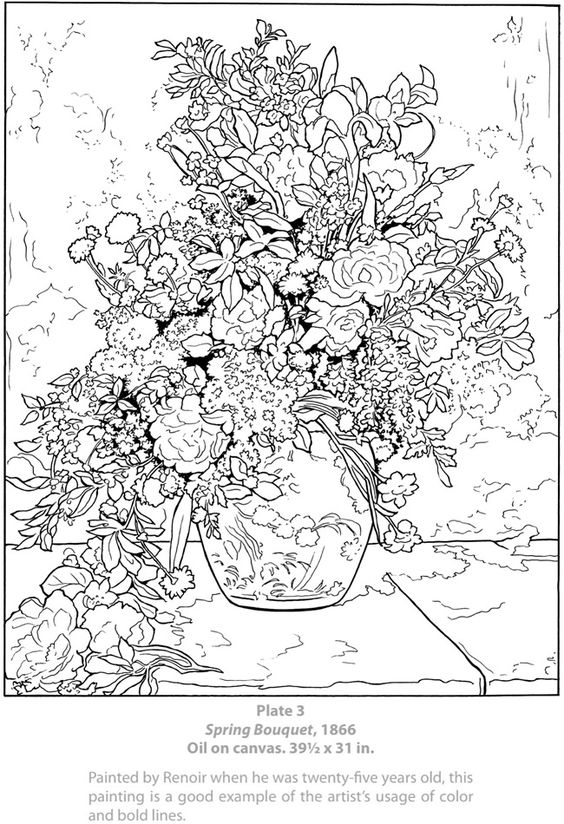 Welcome to Dover Publications / Dover Masterworks : Color Your Own Renoir Paintings / Marty Noble