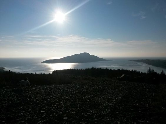 Holy Isle in the sunshine