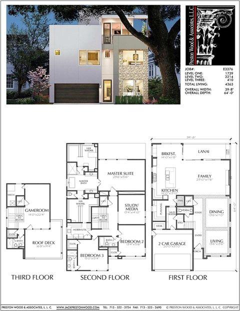 Urban House Plan E3376 House Plans Online Modern House Plans House Plans