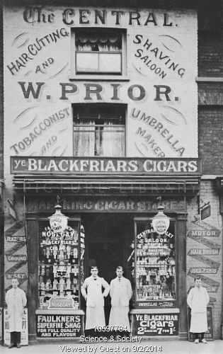 Prior's Haircutting and Tobacconist Shop. Wandsworth - c1905
